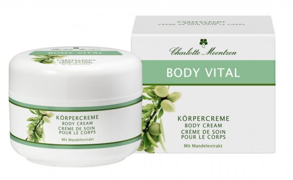 BODY VITAL BODY CREAM - WITH ALMOND EXTRAC - 250ml - Body Vital