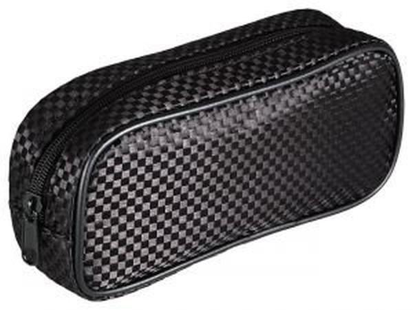 MT Kosmetiktasche gross schwarz in Karo-Design