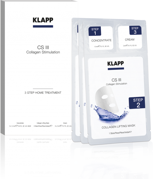 Klapp CS III Collagen Stimulation 3 Step Home Treatment 3 Behandlungen