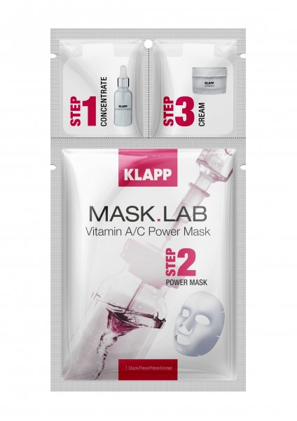 Klapp Mask Lab Vitamin A/C Power Mask, 1 Stück Produkt